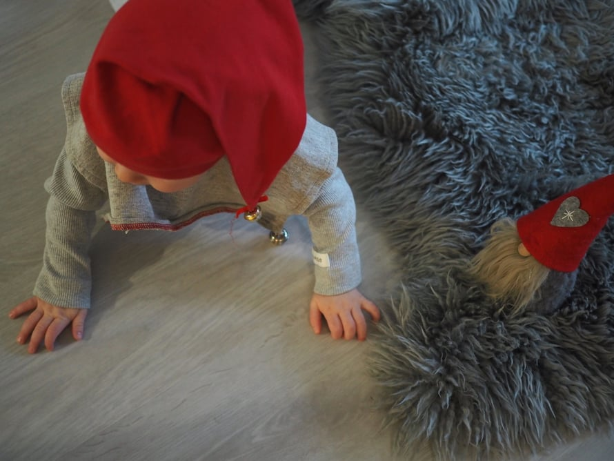 Jouluaatto oli täynnä touhua Peetun päivärytmi huomioon ottaen.