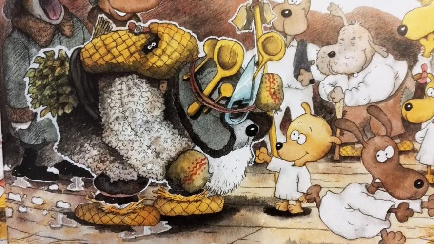 """""""Koiramäen talvi"""" -kirjassa tehdään tuttavuutta muun muassa nuuttipukin kanssa."""