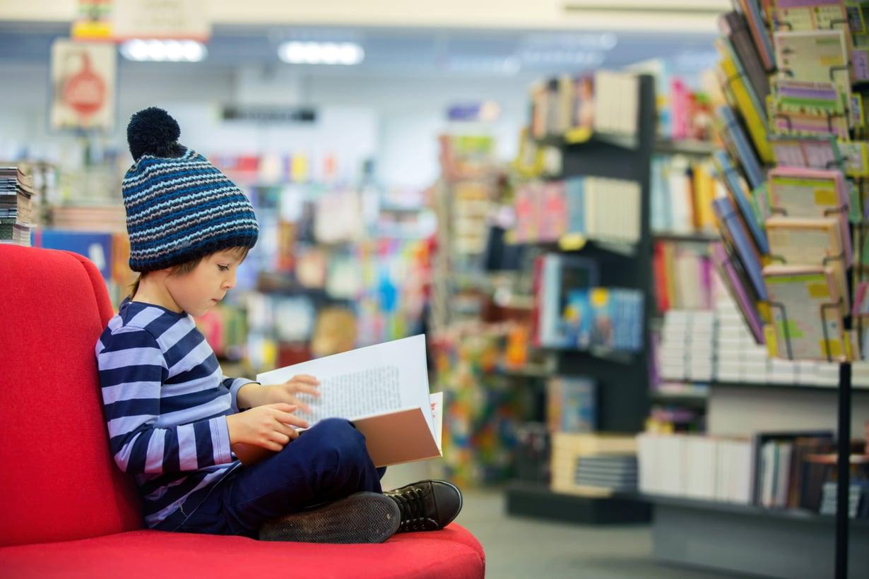 Jos lukeminen tökkii, kirjasto on loistava ensiapu. Kuva: iStockphoto