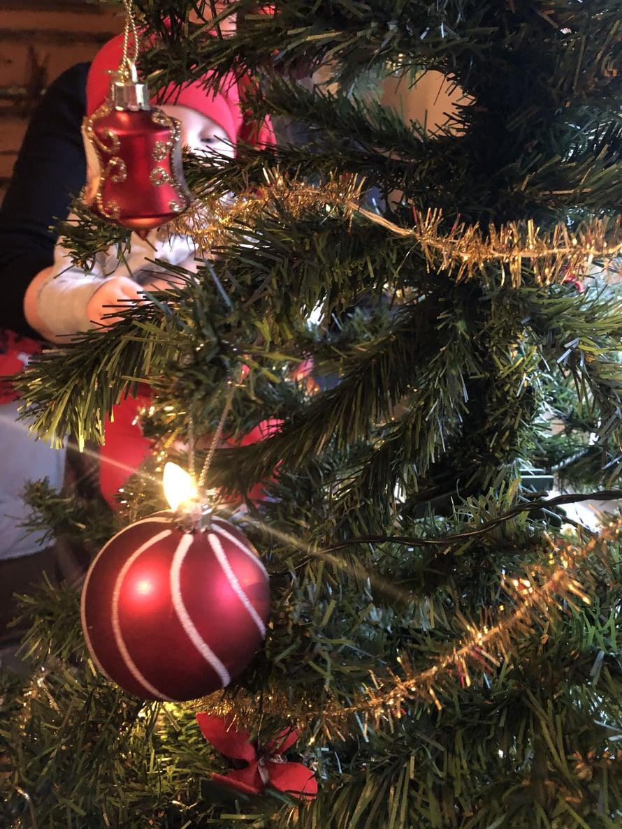 Joulukuusta oli mukava ihailla useasti päivän aikana.