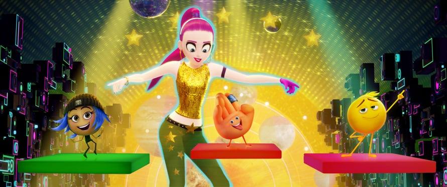 Emoji-elokuva mainostaa pelejä ja sovelluksia. © 2017 CTMG, Inc. All Rights Reserved.
