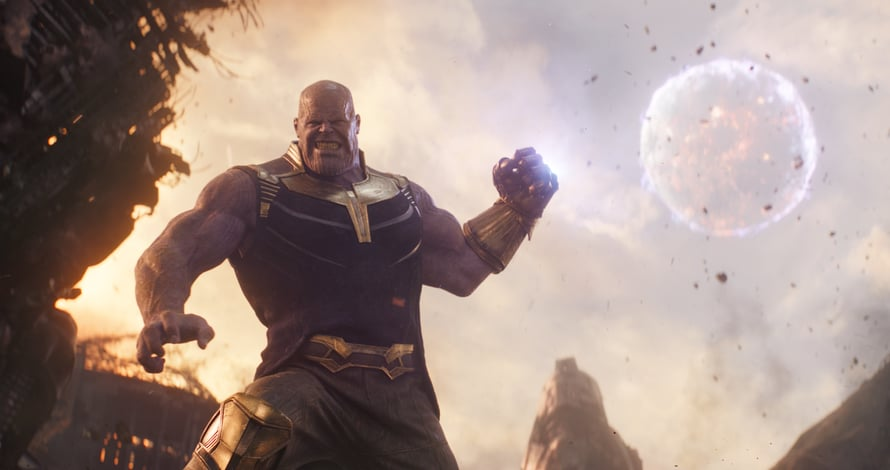 Thanos tappaa talossa ja puutarhassa. Kuva: ©Marvel Studios 2018