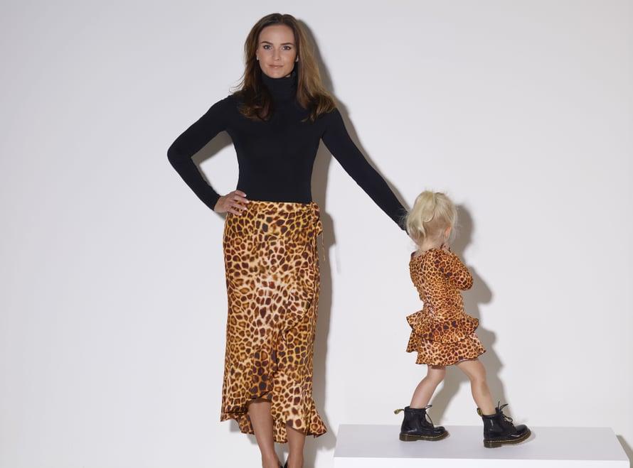 Pantteriprintti on Mintun suosikkeja. Mallina kaksivuotias Rianna.
