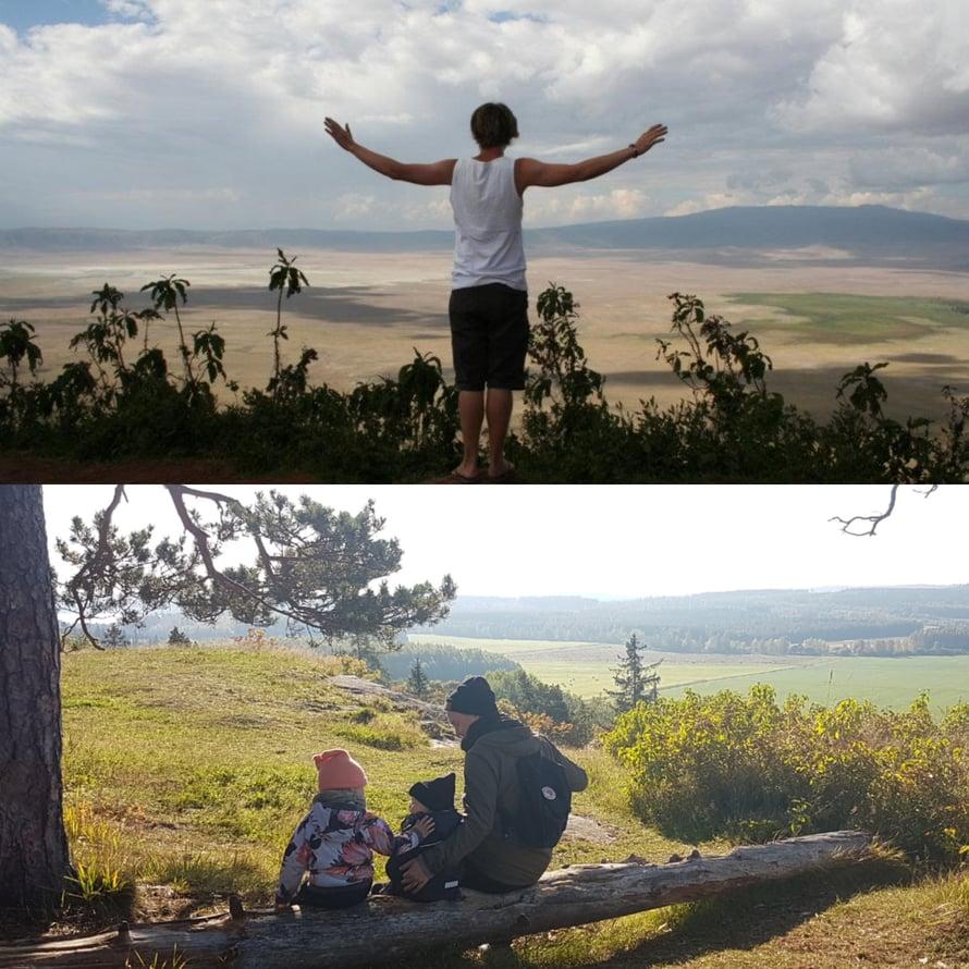 Ngorongoron kraateri, Tanzania 2011 / Hakoisten linnavuori, Suomi 2018