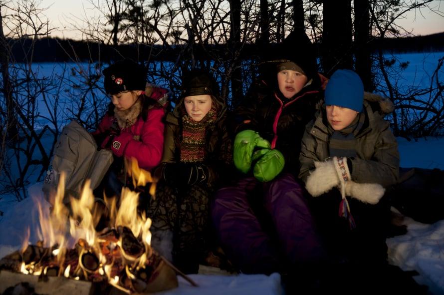 Lapset nauttivat kauhukulttuurista myös Jäälohikäärme-elokuvassa (Isdraken, 2012). Kuva: Oy Kinoscreen Illusion ltd.