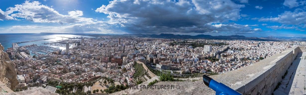 Alicante,  castillo de Santa Barbara, Mirvan Menomatkat, Mölsä Pictures, city view, skyline, viewpoint,