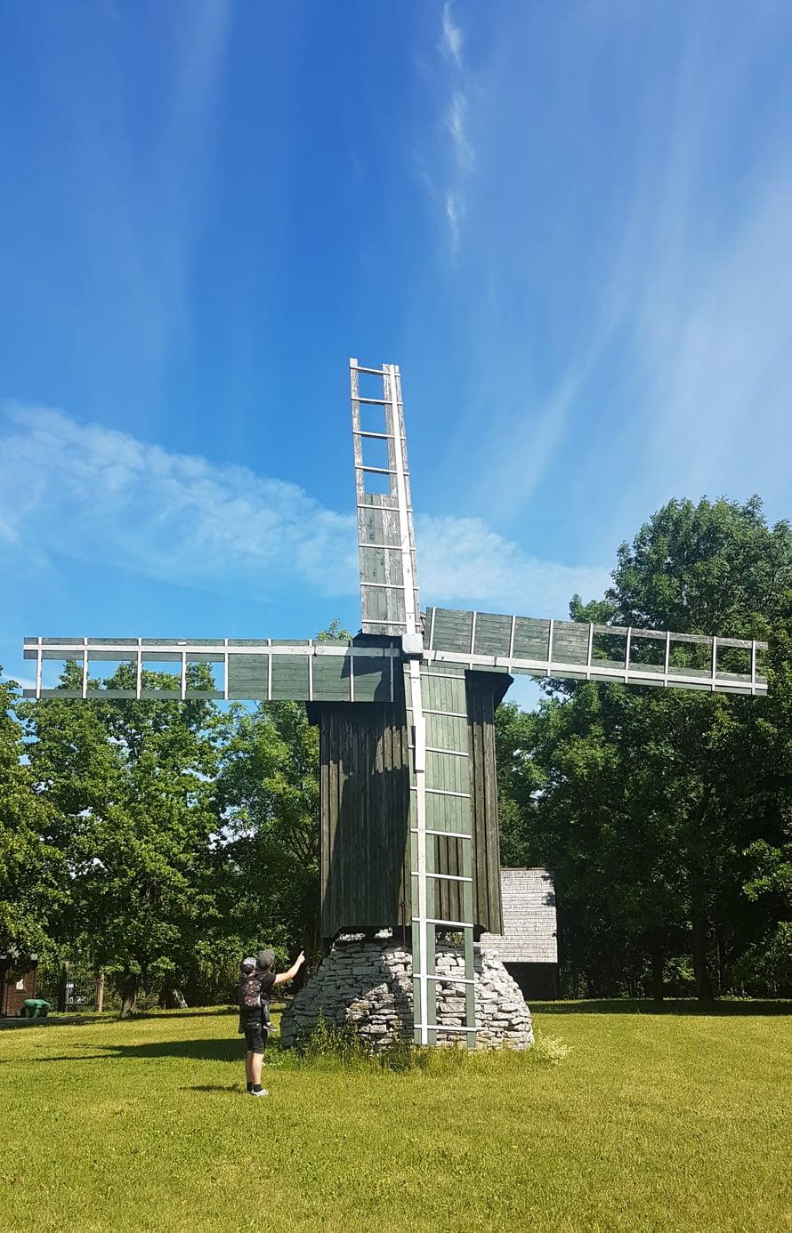 Eläintarhassa pääsi myös ihmettelemään tuulimyllyä. Kuva: Koti-iskä88