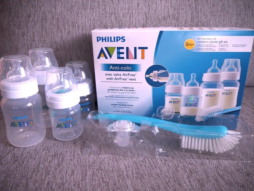 Philips AVENT Anti-colic with AirFree vent lahjapakkaus on hyödyllinen lahja jokaiselle perheelle.
