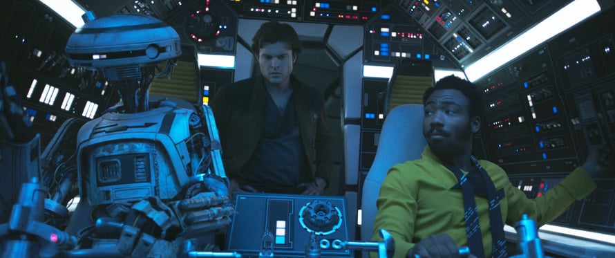 L3-droidi on feministi ja vapaustaistelija. Kuva (c) 2018 Lucasfilm Ltd.