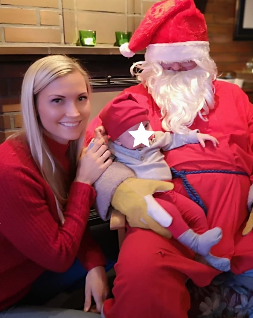 Peetu ei pelännyt joulupukkia laisinkaan.