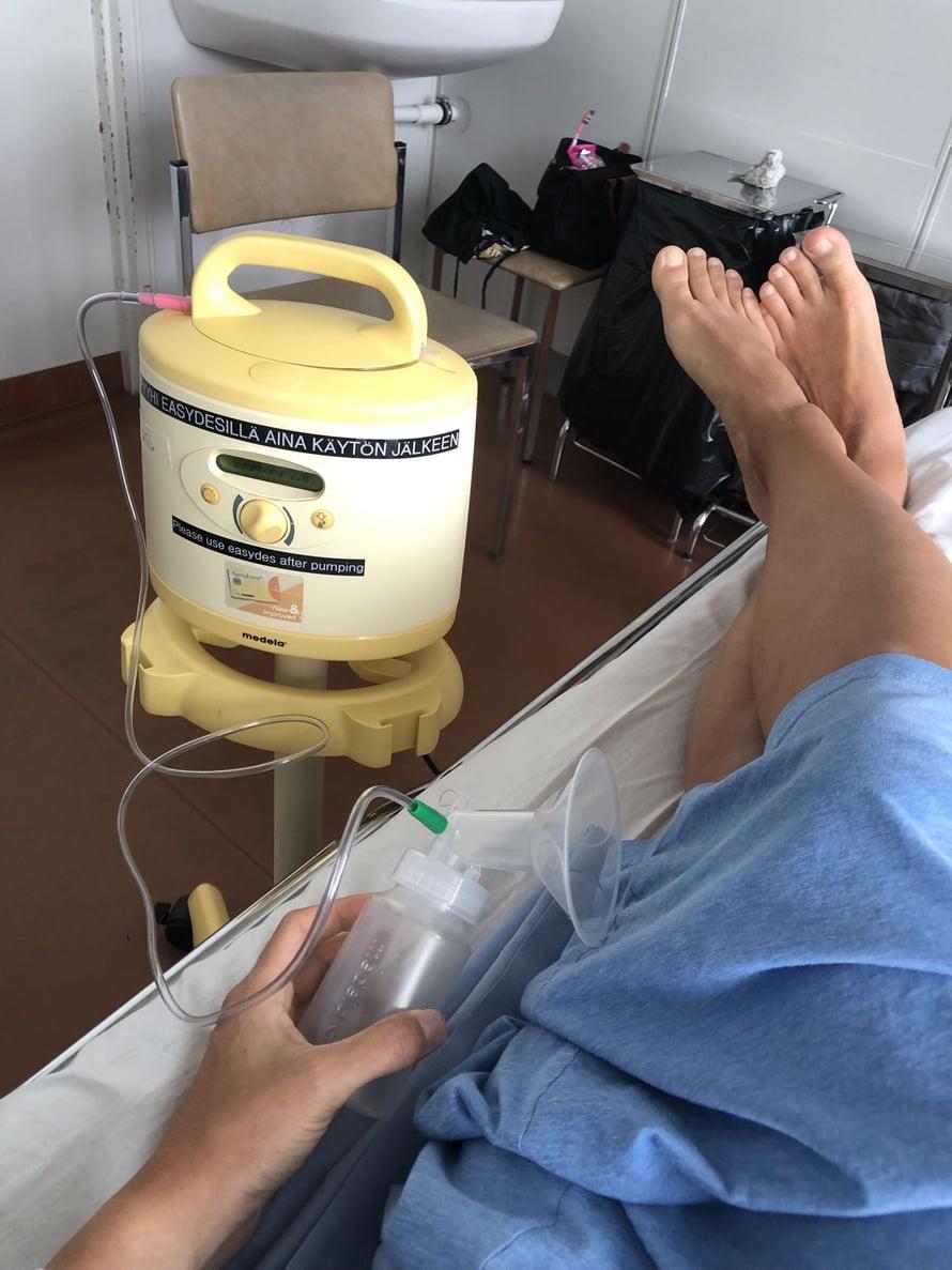 Sairaalan pumppu on nyt tiiviissä käytössä.
