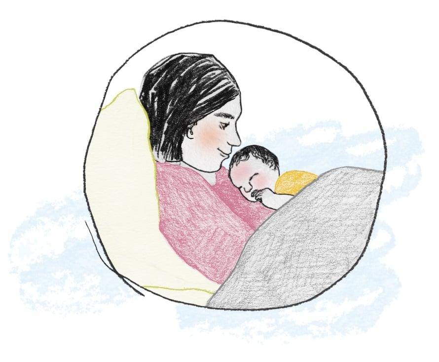 """Toista lasta odottaessaan Sari käsitteli ensimmäisen synnytyksensä perinpohjaisesti ja ymmärsi, ettei ollut """"huono synnyttäjä"""", niin kuin oli luullut."""